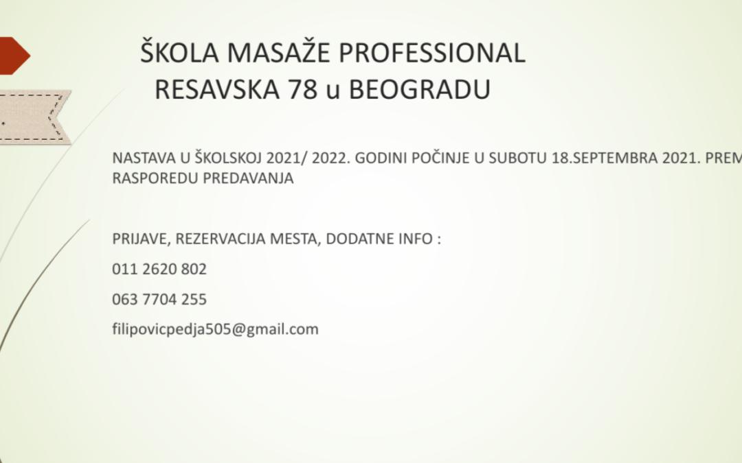 UPIS U ŠKOLU MASAŽE PROFESSIONAL